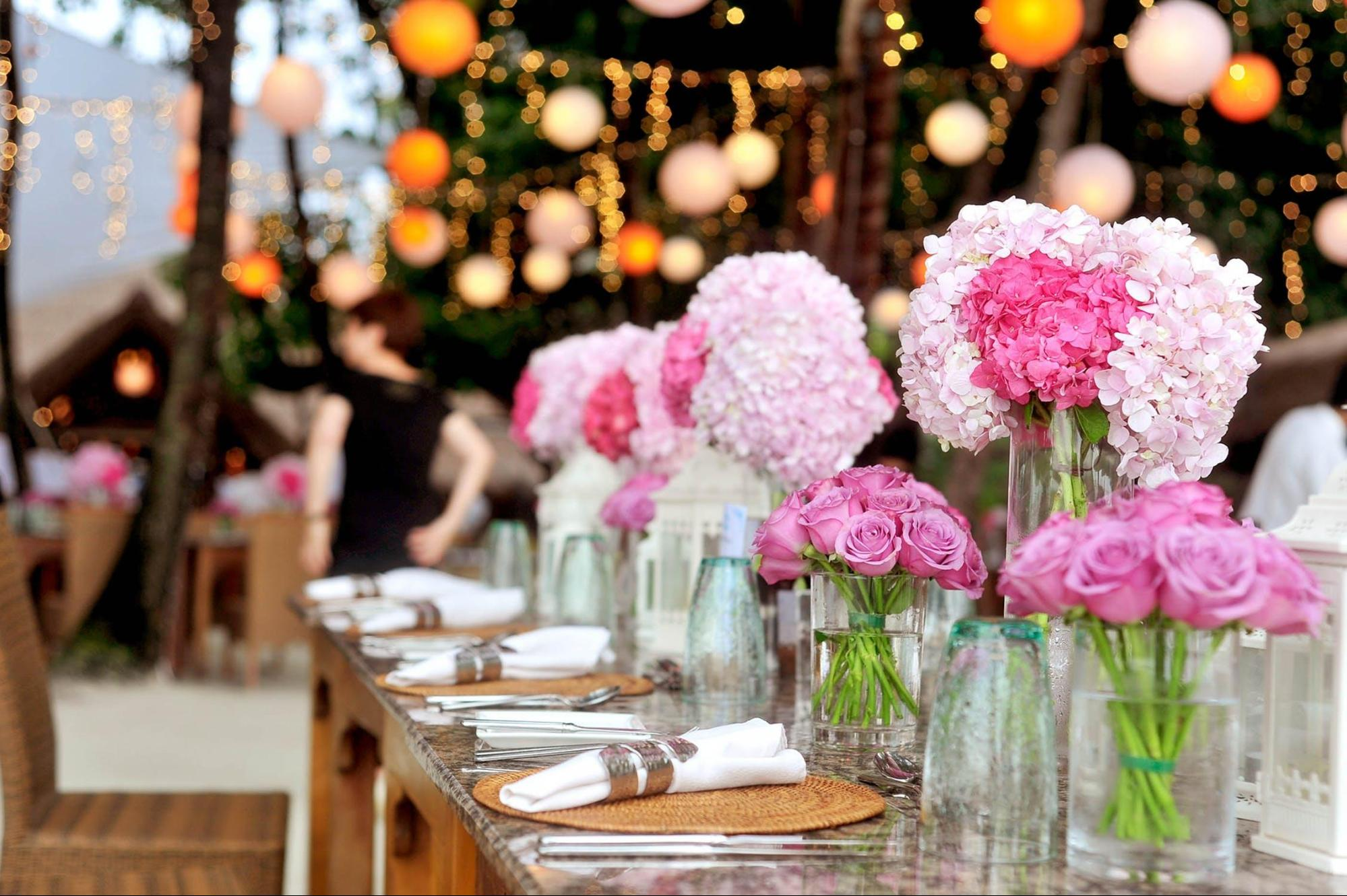 party needs for weddings